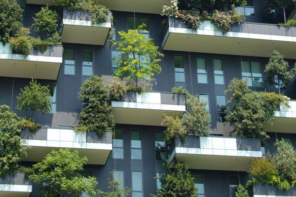 balcones con jardín